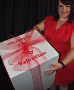 Valentines Day Balloon in a Box