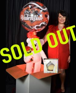 SOLD OUT Valentines Bubble and giant teddy & Cupcake in a box