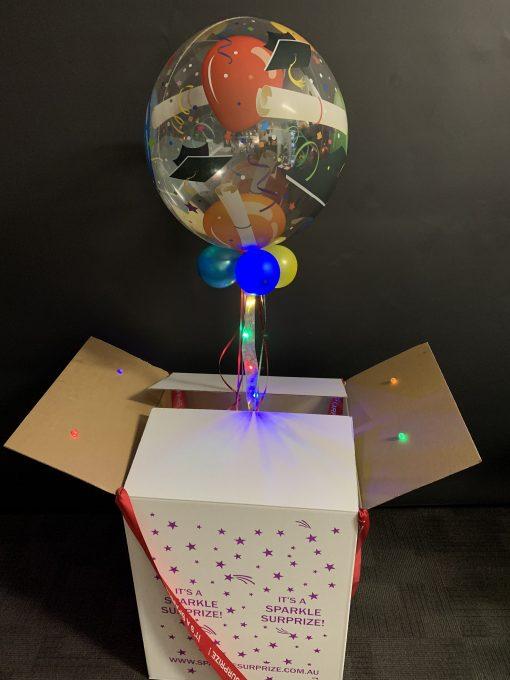 Graduation bubble in a box