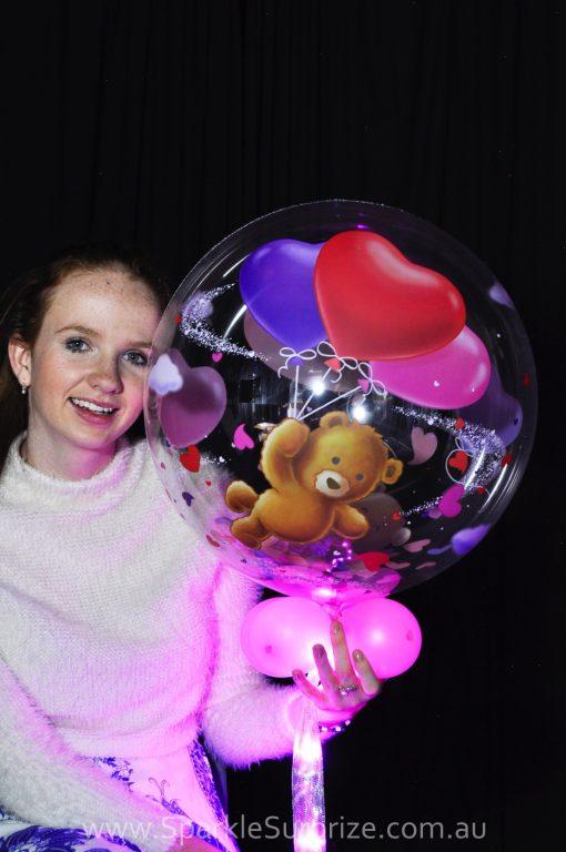 Teddy Hearts Sparkle Surprize