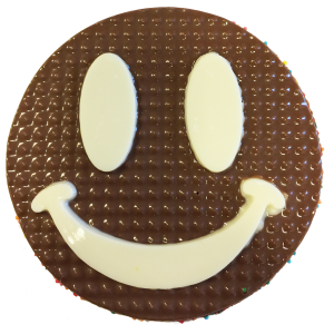 chocolate freckle emoji smiley face
