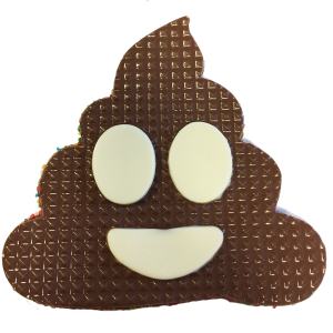 chocolate freckle emoji poo