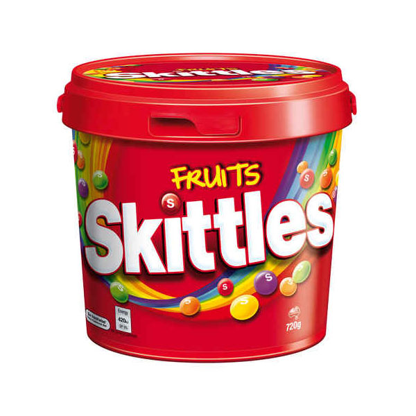 Bucket Of Skittles A Sweet Gift To Add To A Sparkle