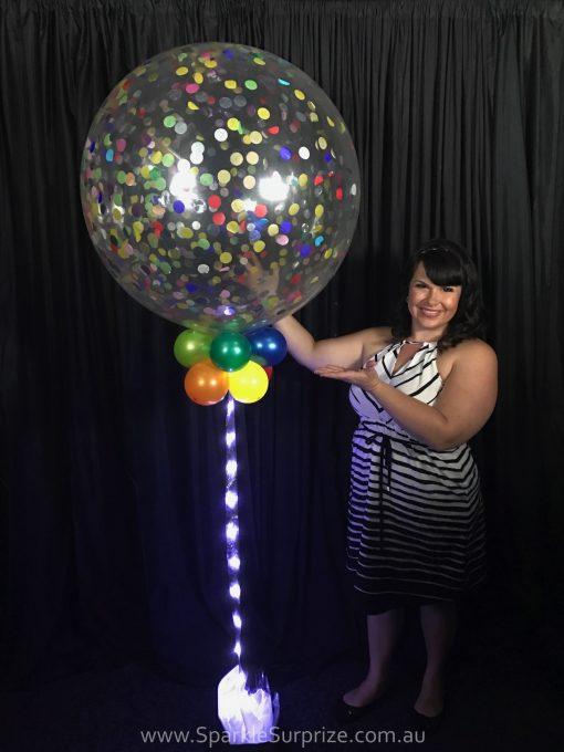 Jumbo Sparkle Confetti balloon 2