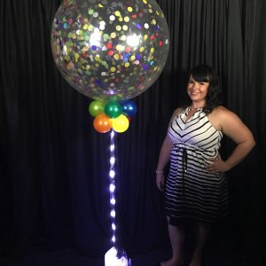 Jumbo Sparkle Confetti balloon multi