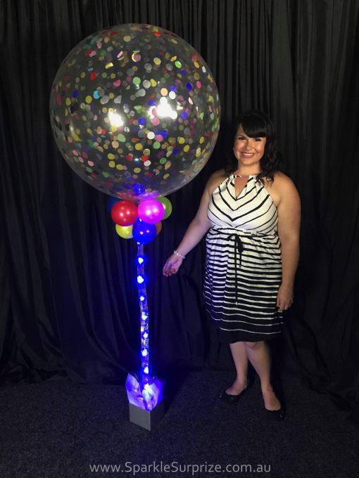 Jumbo Sparkle Confetti balloon 3