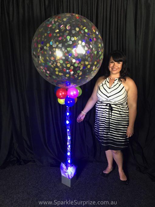 Jumbo Sparkle Confetti balloon 4