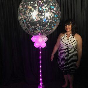 Jumbo Sparkle Confetti Balloon