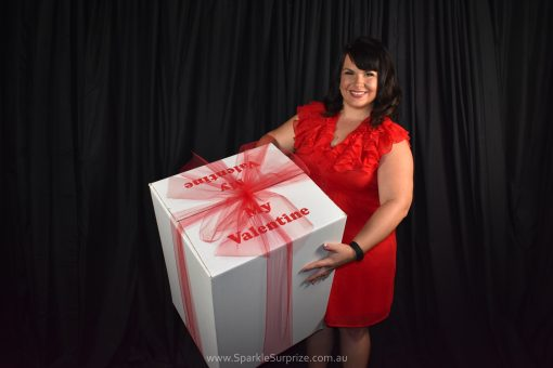 Valentines Box balloon gift delivery with bow