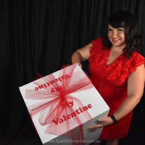 My Valentine balloon in a box