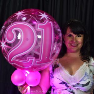21st Birthday Pink Sparkle Surprize