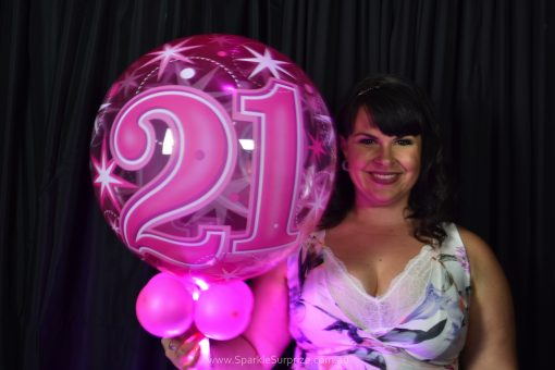 21st Birthday Pink Sparkle Surprize