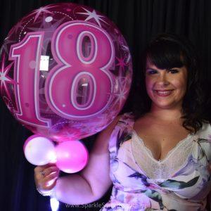18th Birthday Pink Sparkle Surprize