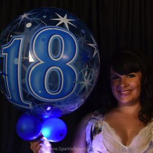 18th Birthday Blue Sparkle Surprize