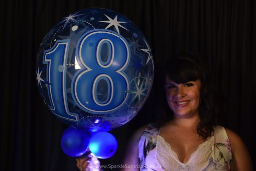 18th Birthday Blue Sparkle Surprize