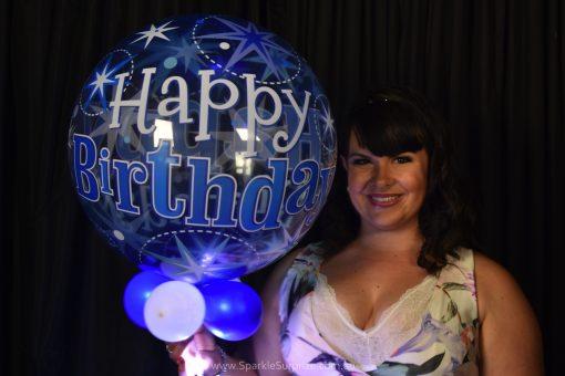 Happy Birthday Blue Sparkles Sparkle Surprize
