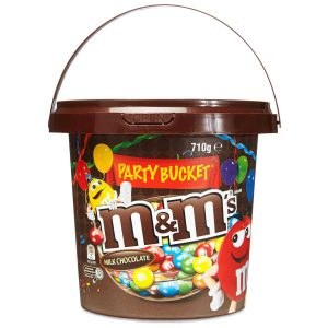 A Bucket of M&M's Chocolate
