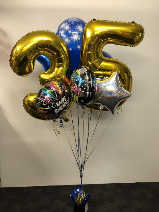 sparkle number balloon bouquet