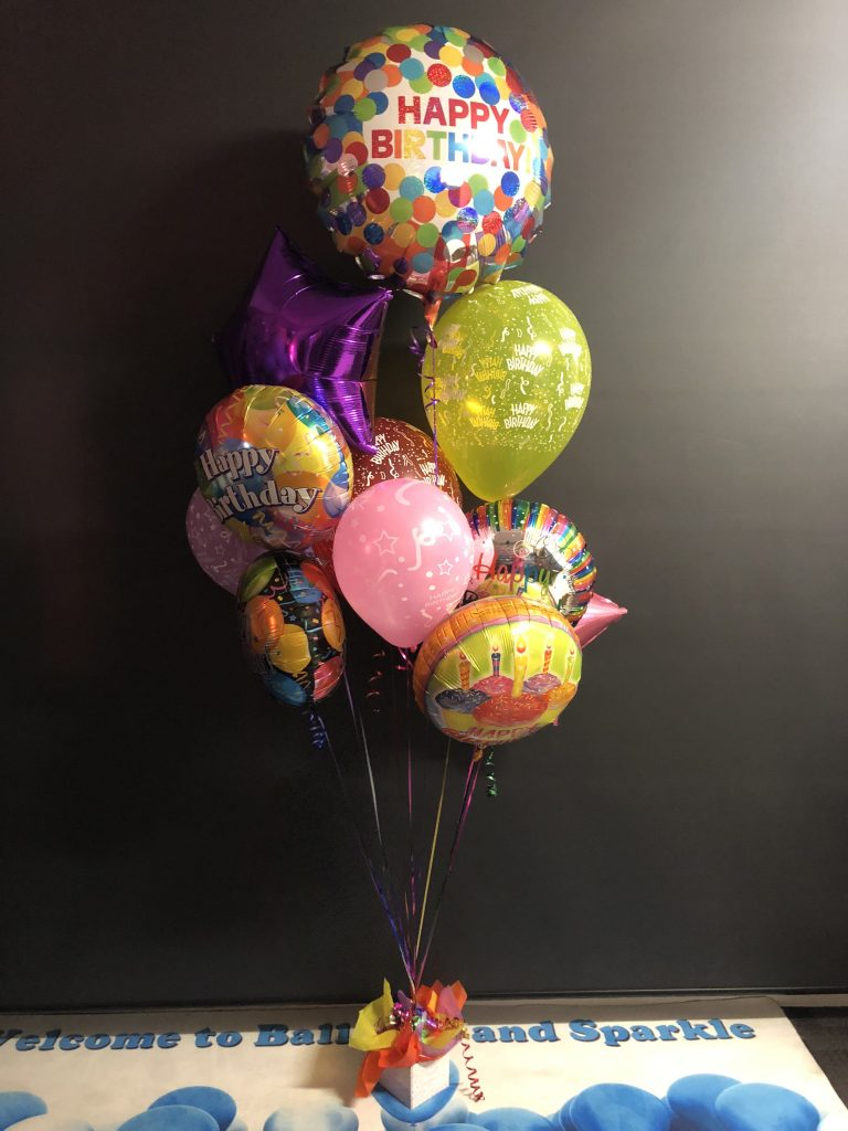 Classic Sparkle Bouquet Of Balloons With Added Sparkle For