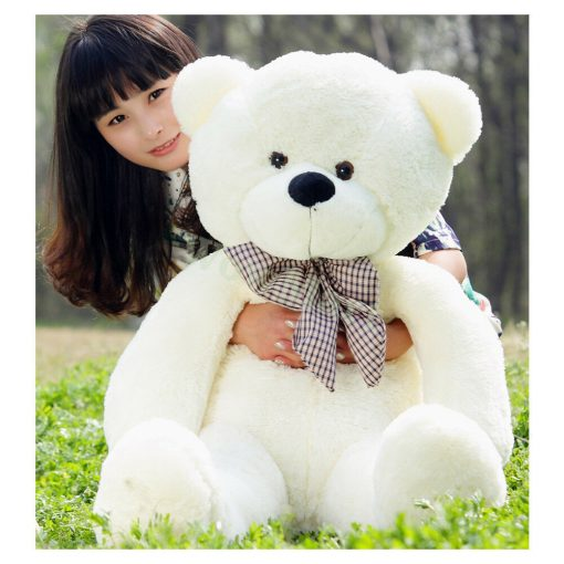 Very large white teddy 60cm tall
