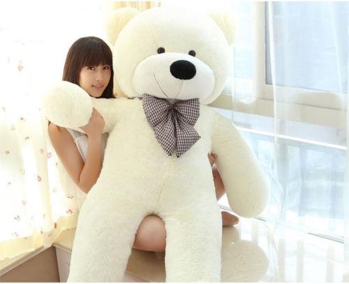 jumbo white teddy 80cm