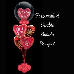 Personaliesd Double Bubble Valentines bouquet
