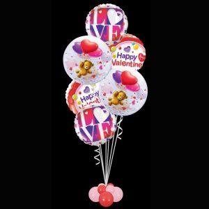 Foils and Bubbles valentines bouquet