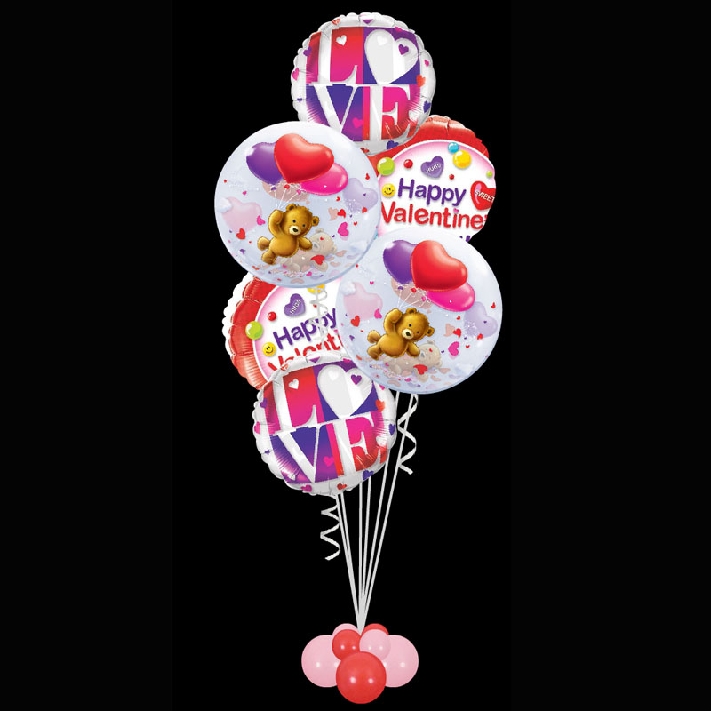Bubbles Amp Foils Valentines Day Balloon Bouquet Perfect