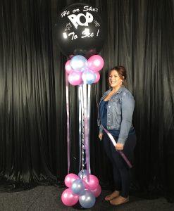 Gender Reveal jumbo balloon column