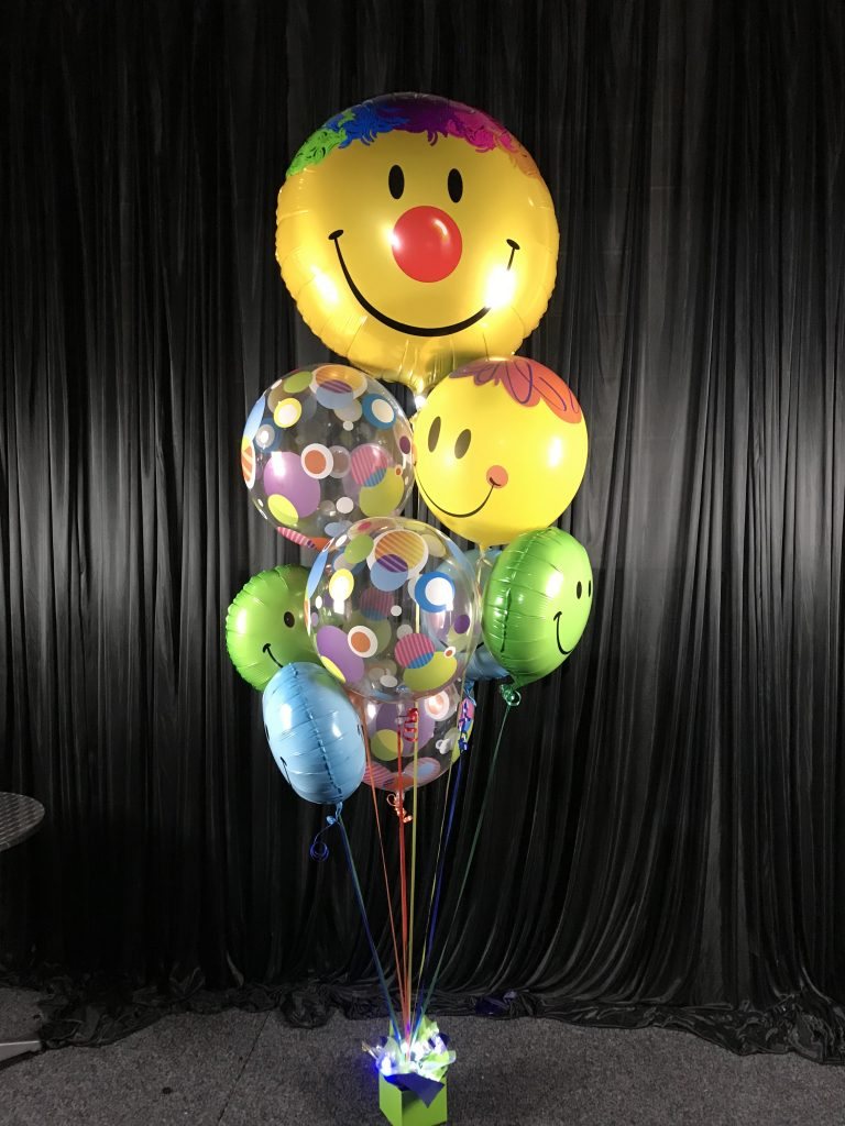 Smiley Face Happy Balloon Bouquet Cheer Up Get Well