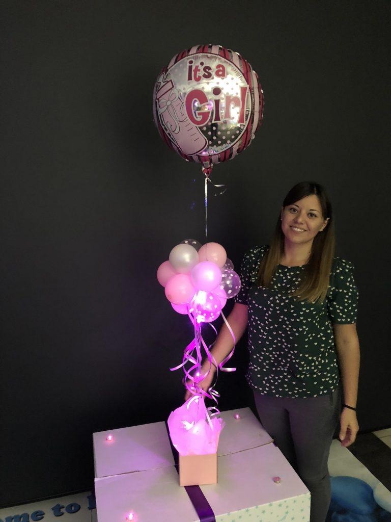 Gender Reveal Chocolate Smash Cake Surprize Balloon Gift