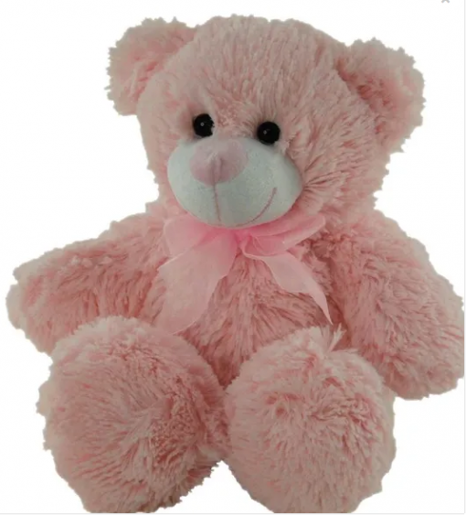 large 36cm pink teddy bear