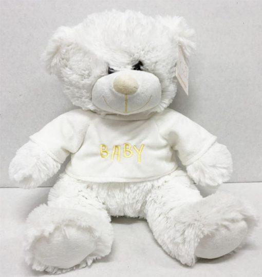 XL 42cm white teddy baby