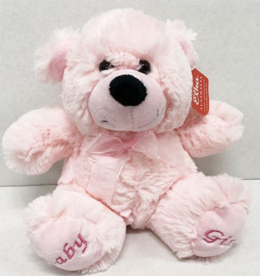 large 25cm pink teddy baby girl