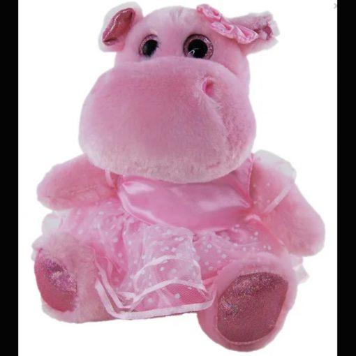 pink hippo ballerina 23cm