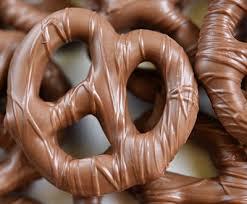choc coated pretzel