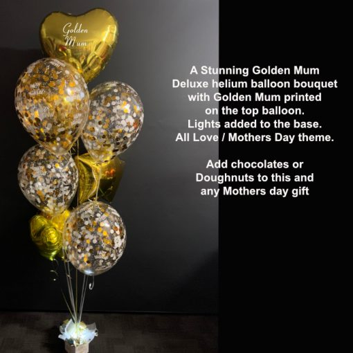 Golden Mum balloon bouquet