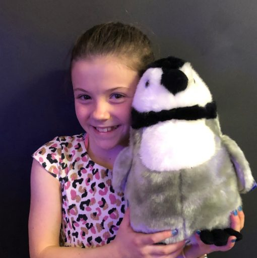 fluffy penguin soft toy