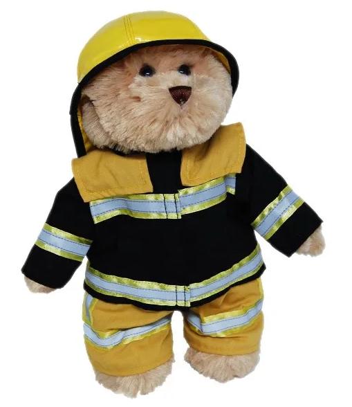 Fireman dressed teddy bear 23cm tall