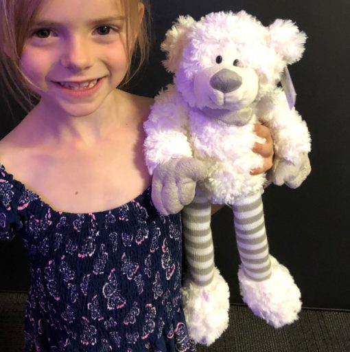 White 30cm gangly teddy bear