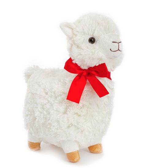 White 25cm soft Llama