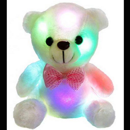 white light up teddy bear 25cm