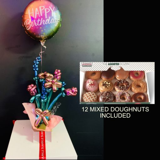 balloon flower surprize and 12 mixed doughnuts2