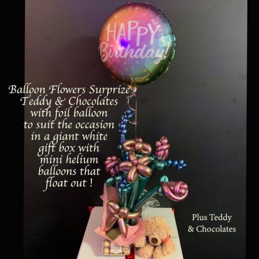 balloon flower surprize teddy chocolates