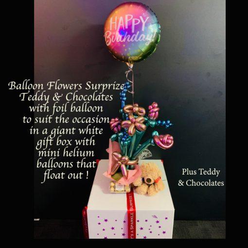 balloon flower surprize teddy chocolates 2