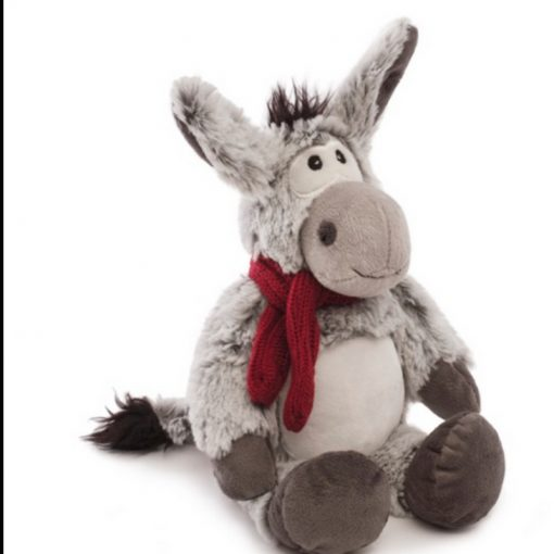 grey donkey fluffy toy 20cm
