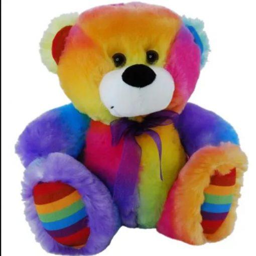rainbow teddy 27cm