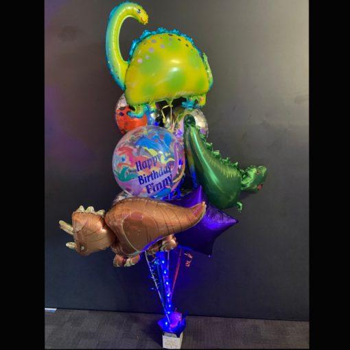 Dinosaur themed helium balloon bouquet