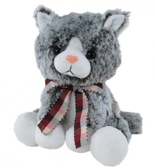 Cute grey pussycat 24cm