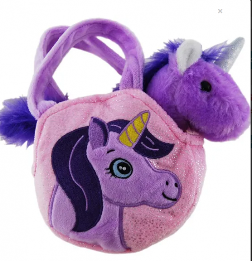 purple Unicorn Bag 20cm